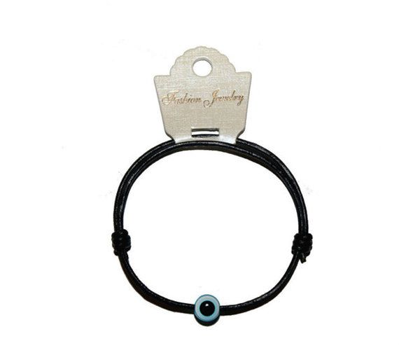 Greek Evil Eye 100% Genuine Leather Bracelet 2mm (For Men, Women & Children) Price: €12.00 Including FREE International Shipping!!!