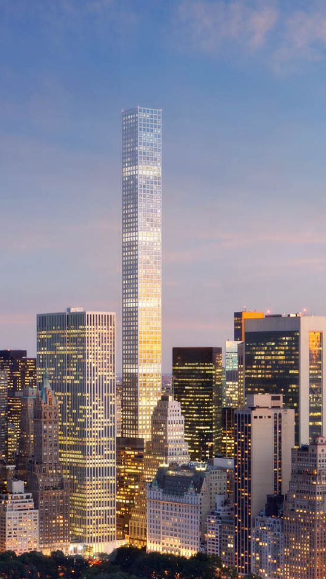 (432 Park Avenue, Residential Tower, 89 floors by Rafael Viñoly)