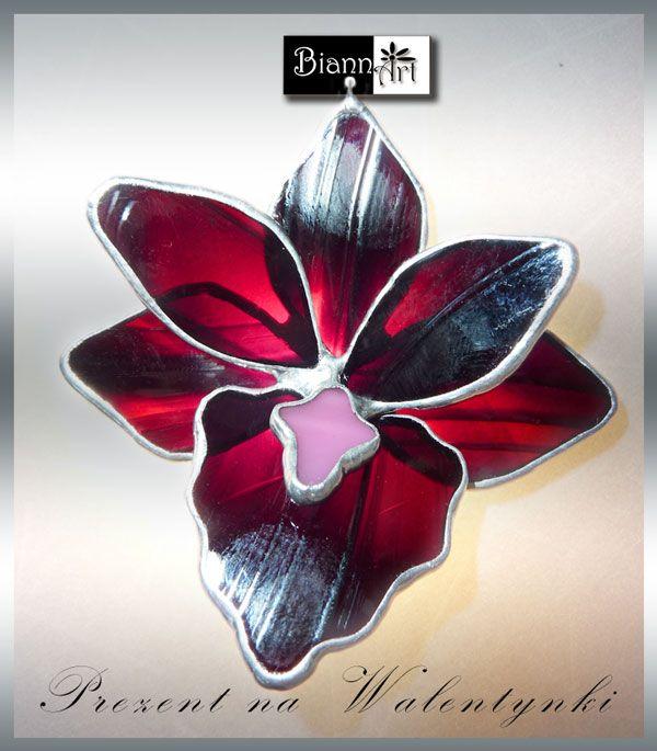 biannart | Prezent na Walentynki - wisiorek kwiatowy