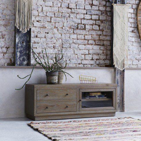 Oak TV stand - Pablo TV furniture sale at Tikamoon