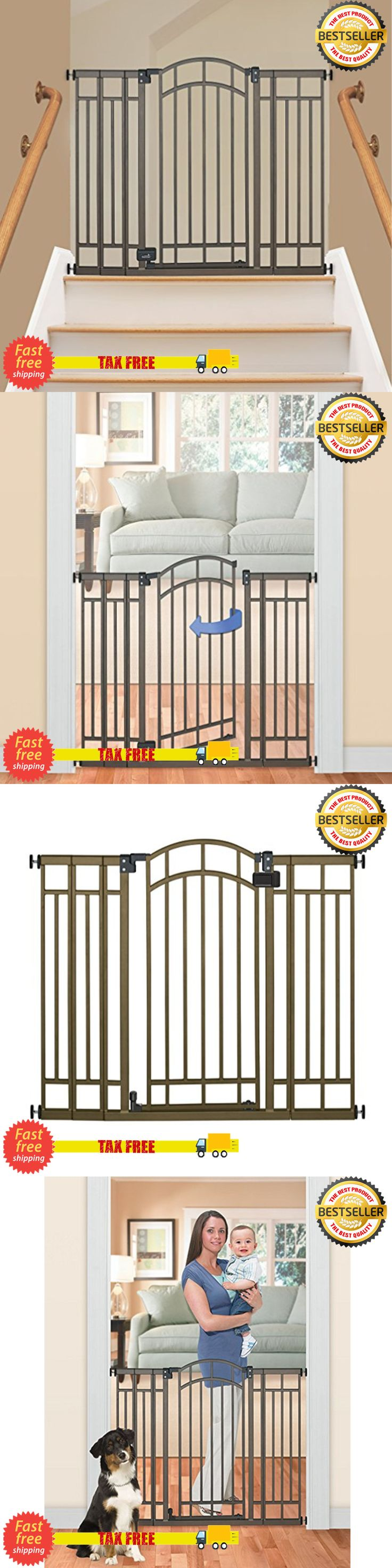 Baby Safety and Health 20433: Extra Tall Walk Thru Safety Gate Pet Dog Toddler Baby Child Stairs Through Wide -> BUY IT NOW ONLY: $56.99 on eBay!