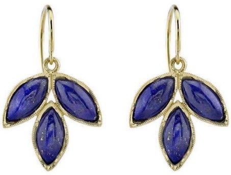 IRENE NEUWIRTH - Three Marquis Earring Set with Lapis