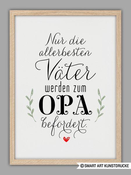 Originaldruck – «PAPA und OPA» Kunstdruck, Vatertag Geschenk – ein Designerstück von Smart-Art-Kunstdrucke bei DaWanda