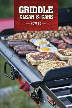 Our pre-seasoned professional steel griddles can handle just about any cooking job you can throw at them. But that doesn't mean they don't need a little TLC every now and then. If you want to get the most out of your griddle, from camp breakfast to back patio cookouts, follow the guide here.  http://www.campchef.com/blog/how-to-care-for-your-griddle/