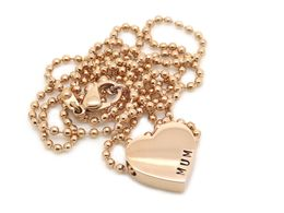 Petite Heart Necklace - Personalised Jewellery