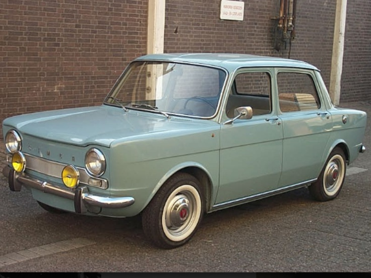 SIMCA 1963. Good grief, don't know why, but we had one of these when I was a kid. The whole family thought it was a weird little car.
