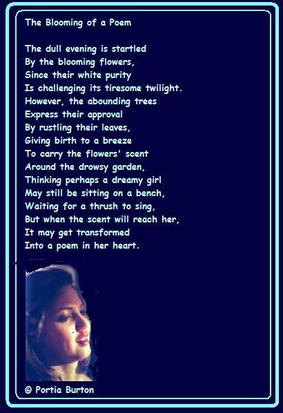 Blooming of a Poem - © Portia Burton