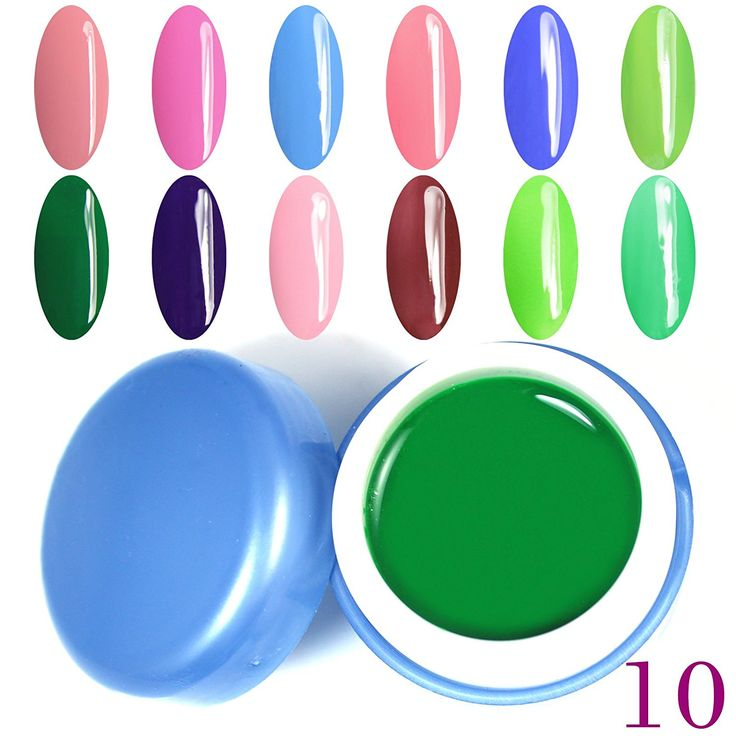 Perfect Summer Brand 12pcs Uv Gel Nail Polish 6ml Pure Colour UV Gel Uv Gel Set Nail Art -10 -- Click image for more details.
