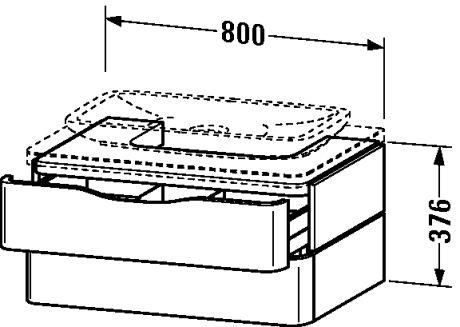 puravida mueble lavabo bajo encimera cajones cajn superior incl recorte para sifn y