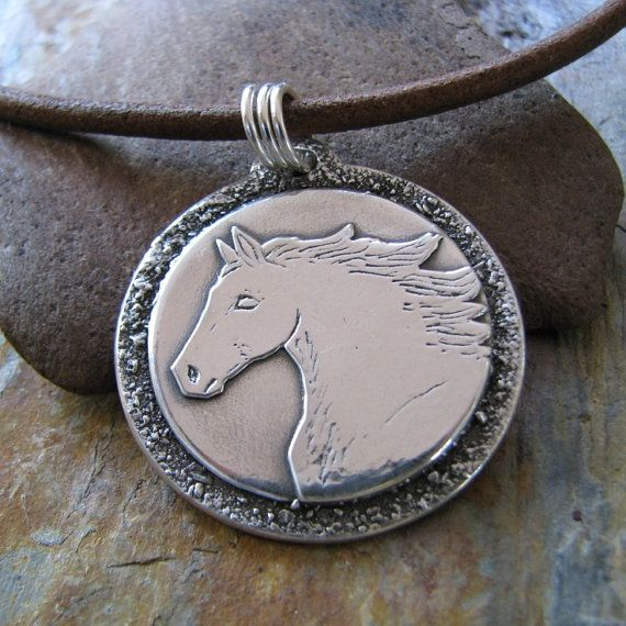 Unbridled Horse Jewelry PMC Artisan One of a Kind by SilverWishes, $115.00