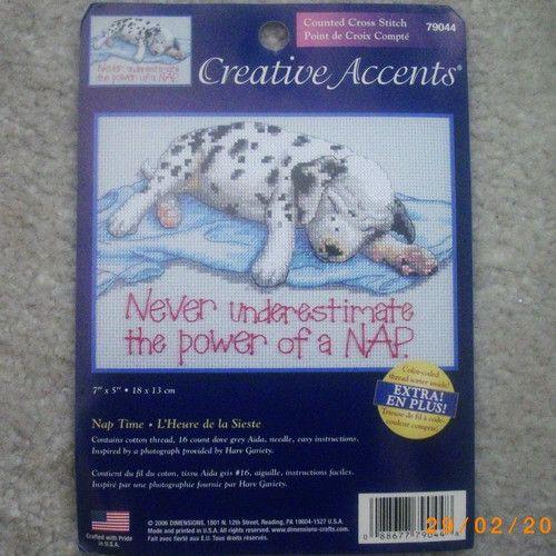 Creative Accents dalmatian puppy cross stitch kit