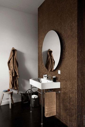 Bathroom Brown Tile