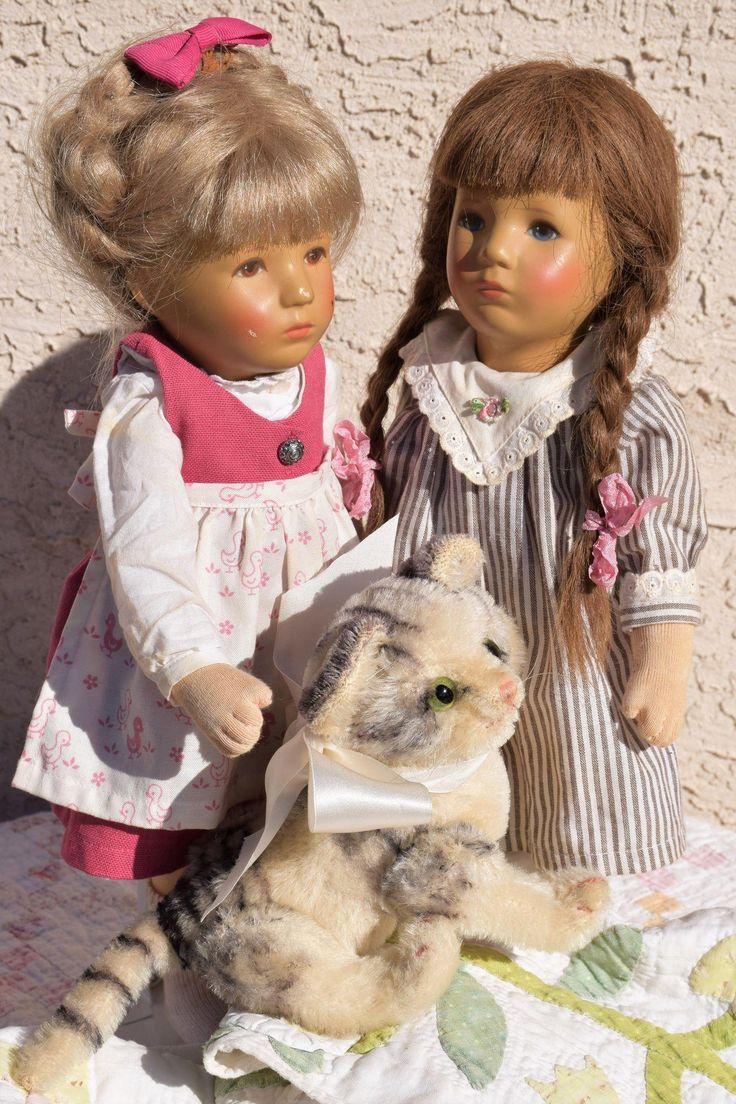 Kathe Kruse Sisters - Two for the Price of One! from doll-heaven on Ruby Lane