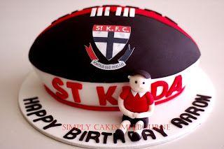 Simply Cakes Melbourne ST KILDA Footy Ball Cake cakepins.com