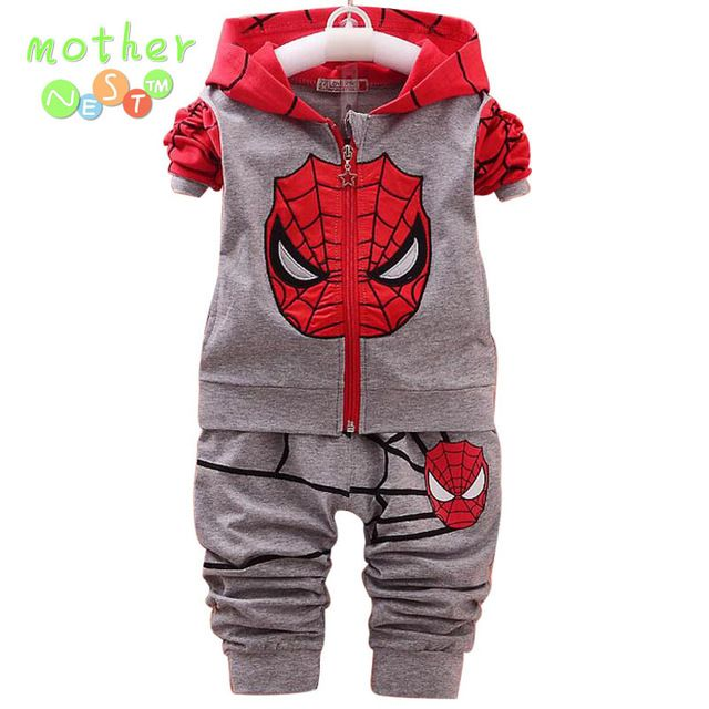 Buy now 2Pcs Children Clothing Sets Spring 2017 New Cartoon Fashion Hooded Coat Toddler Kids Boys Clothes Winter Spiderman Suits just only $10.79 - 11.69 with free shipping worldwide  #boysclothing Plese click on picture to see our special price for you