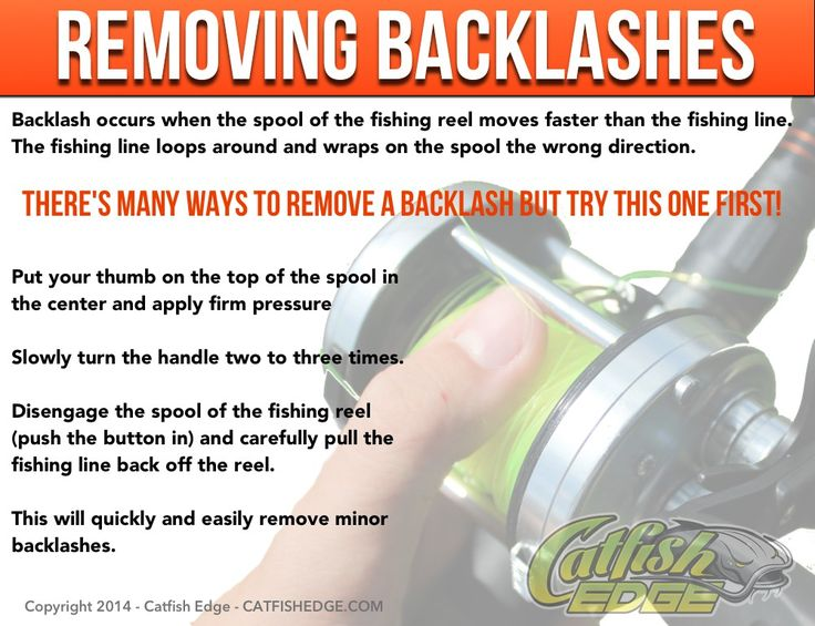 Quick and easy way to remove backlashes from fishing reels