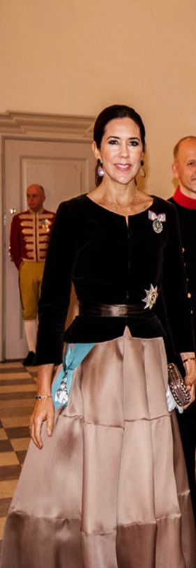 "princesswheresyourcrown: ""Royals Recycling The Crown Princess of Denmark recycled a pink (or is it really light brown?) Rachel Gilbert skirt on January 4, 2018. She first wore it for Vogue Australia..."