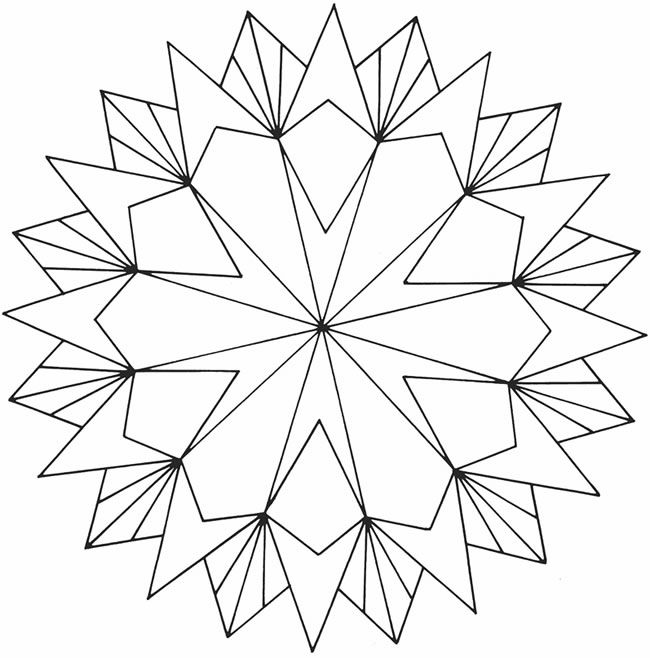 geometric star coloring pages star designs - Coloring Pages Designs Shapes