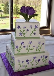 purple and green cake