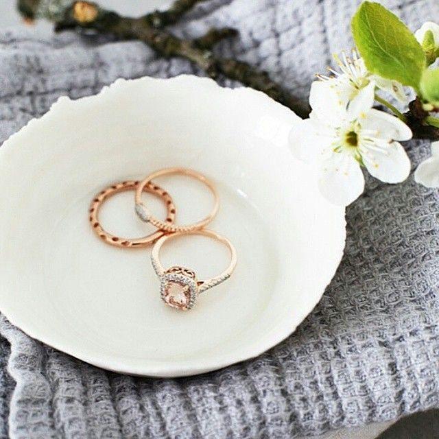 Regram @elisabeth_heier  diamantringer i rosé fra Juvelen