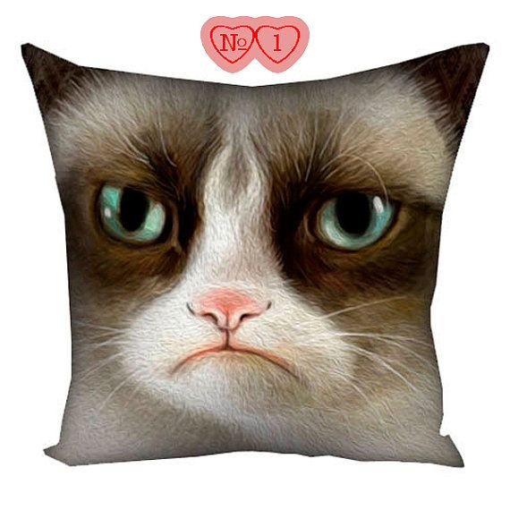 Cushion with cat Cushion with image of a cat by giftsforloved