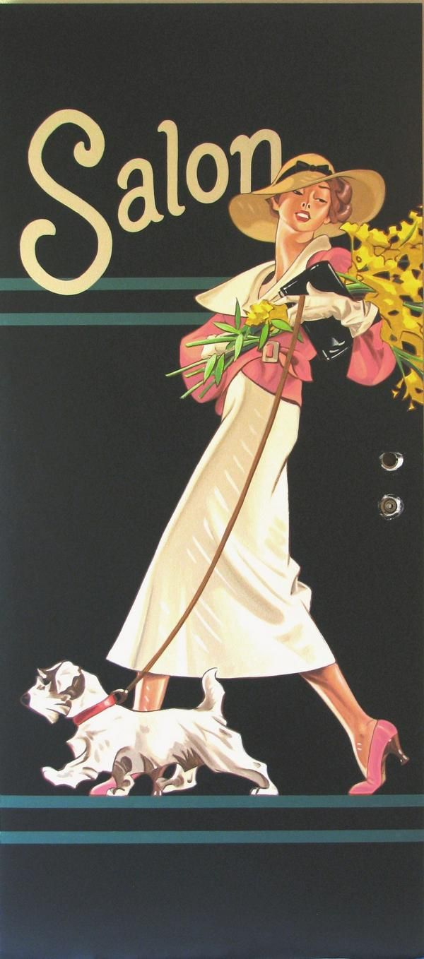 A chicly beautiful illustration for Salon by J. C. Leyendecker, 1934. #vintage #fashion #illustration #1930s