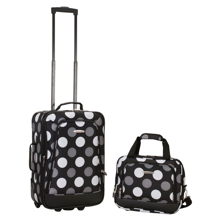 Rockland Rio 2-pc. Carry-On Luggage Set - New Black Dot