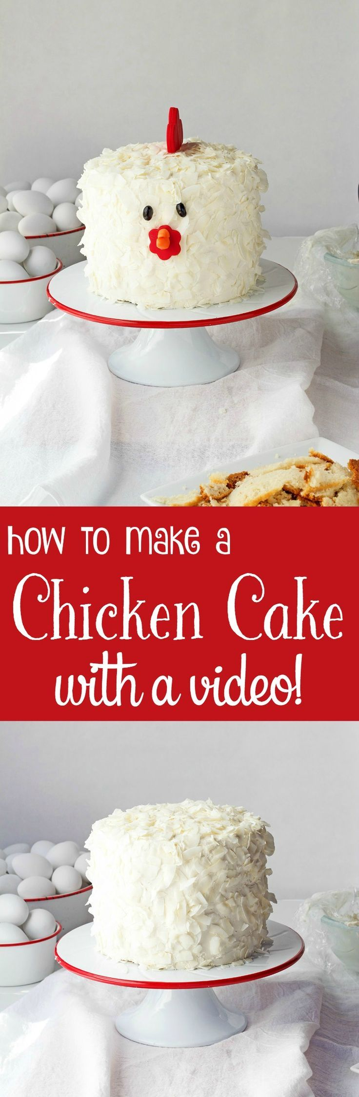 How to Make a Simple Cute Chicken Cake with a How to Video | The Bearfoot Baker