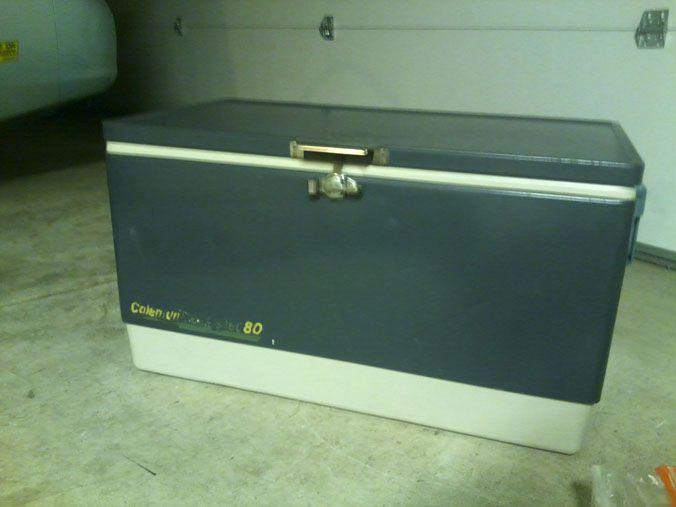 80 Qt Coleman Steel Belted Cooler Vintage Camping Gear
