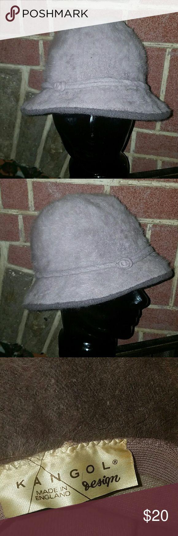 Vintage Gray Kangol Fuzzy KANGOL CAP, GOOD CONDITION kangol  Accessories Hats