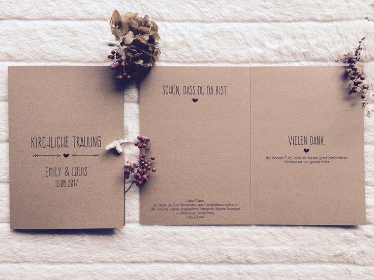 Hochzeit - Kirchenheft - Vintage Hochzeit ♥♥♥ - ein Designerstück von sweetrustic bei DaWanda