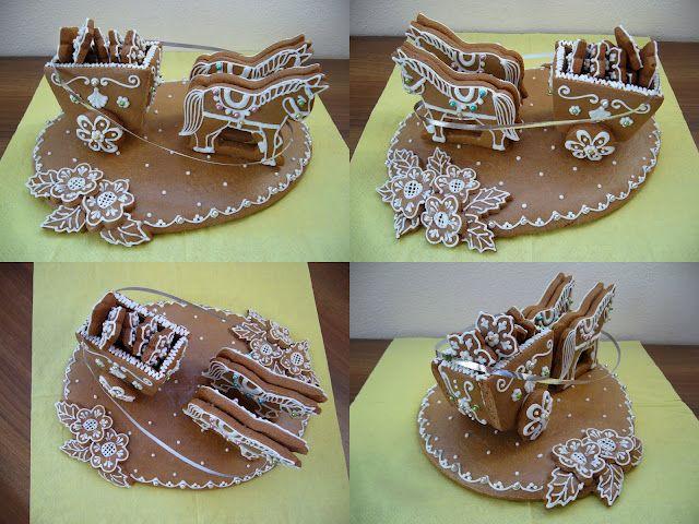 gingerbread cookie art - Koníci