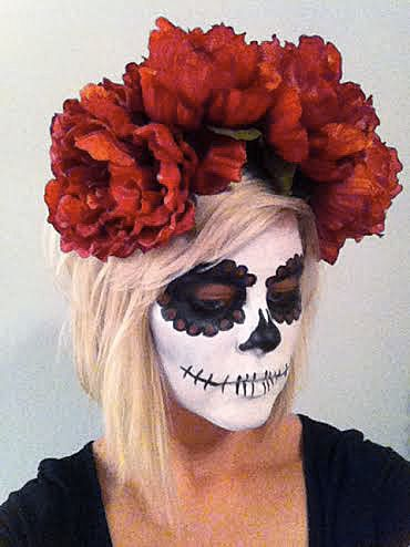 DIY Dia de los Muertos Halloween Flower Crown Halloween ...