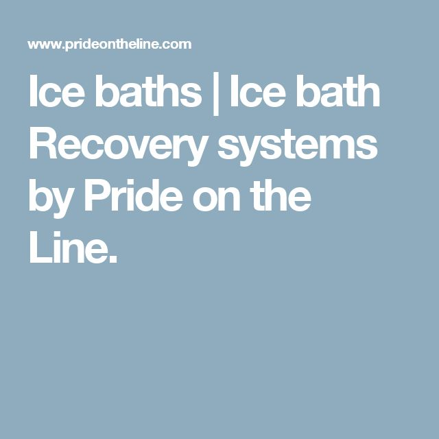 Ice baths | Ice bath Recovery systems by Pride on the Line.