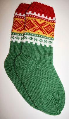 Christina's Handmade: Kvikklunsj-sokker med Mariusmønster