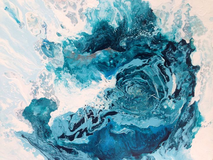 The beauty within- original Laura Adams Wilson painting. Fluid abstract art. Abstract water painting.