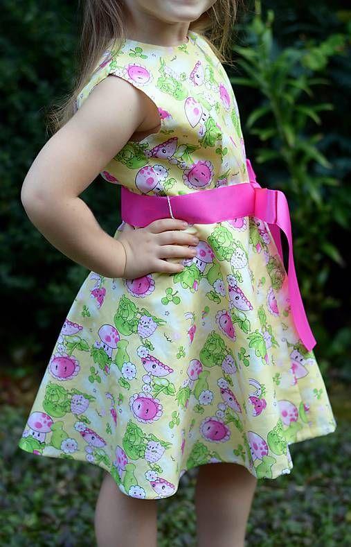 Detské oblečenie - Dievčenské šaty - Hríbik - 5714093_