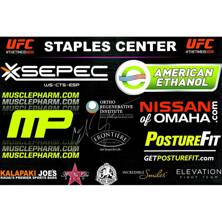 "Cat Zingano Ultimate Fighting Championship Fanatics Authentic Autographed 11"" x 17"" UFC 184 Mini Replica Sponsor Banner - $47.99"