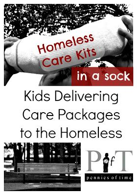 """Penny of Time"" Adventure: Kids Helping the Homeless, Delivering Care Packages to the Homeless. I share one experience my boys recently had in giving away a care package to a man sleeping on a city bench. It was one we won't be forgetting for awhile. Teach children to serve."