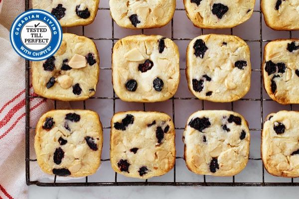 White Chocolate, Almond and Blueberry Icebox Cookies   Canadian Living