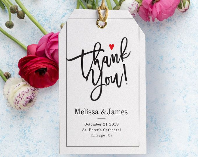 graphic relating to Free Printable Hang Tags named Wedding day tag - Thank Yourself Tag - Wedding ceremony Prefer Tag Template