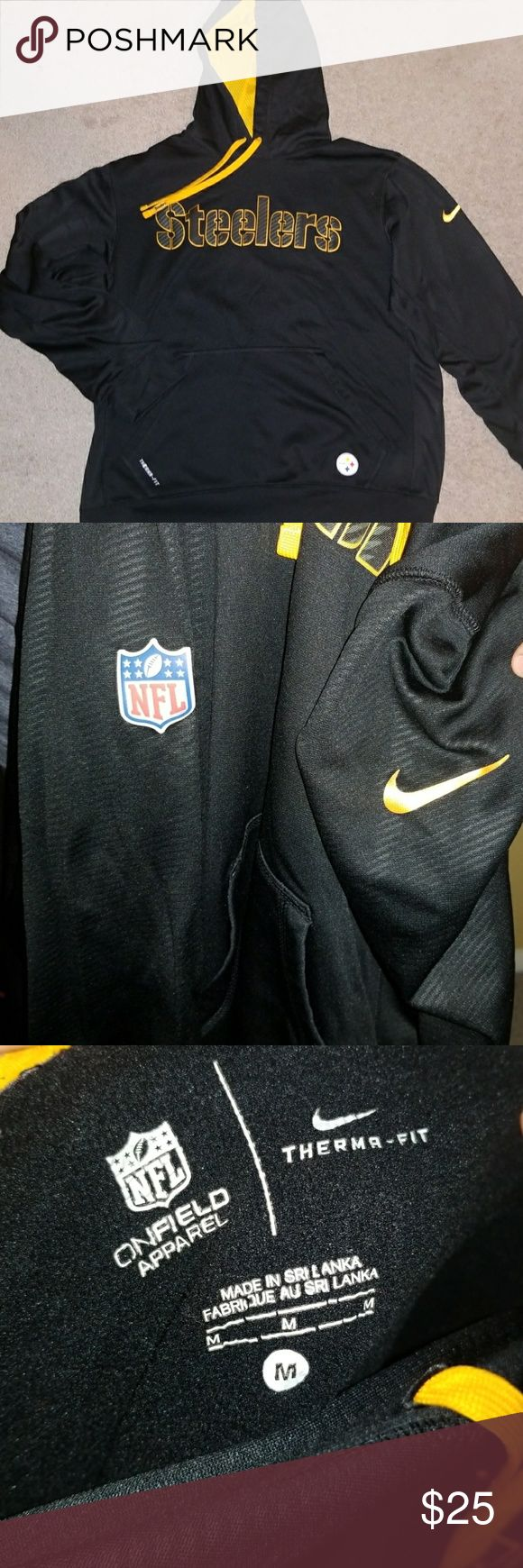 Men's Nike dry fit hoodie Great condition Steelers dry fit pull over hoodie size mens medium. No flaws. Nike Jackets & Coats
