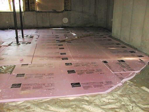 Unique Insulate Basement Floor with Rigid Foam