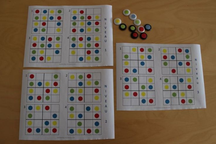 Bonjour, Je vous propose aujourd'hui deux petits jeux que j'ai recréé à partir d'un livre de chez Retz, Situation-jeux pour des apprentissages mathématiques en maternelle (GS). J&…