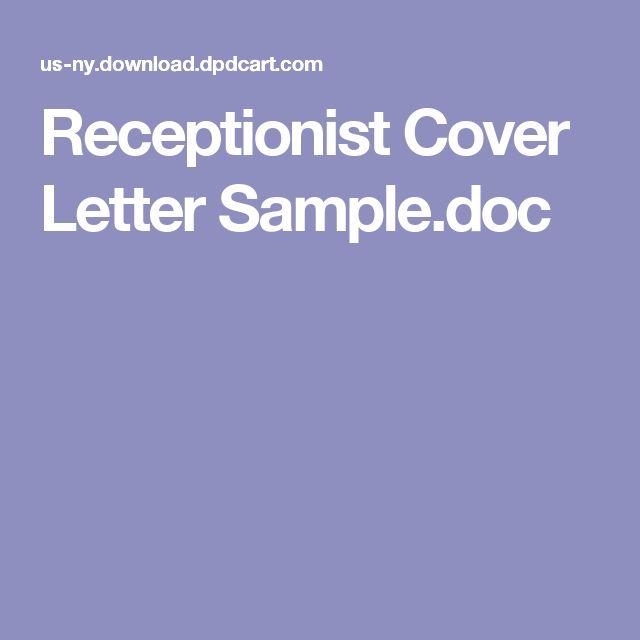 Receptionist Cover Letter Sample.doc