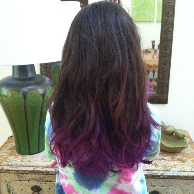 Lavender Dip Dye On Brown Hair | Brown Hair With Purple Dip Dye Purple dip dye looks so good
