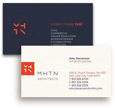 MHTN Architects Business Cards