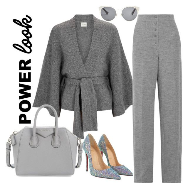 """""""Power Look"""" by acacia97 ❤ liked on Polyvore featuring Le Kasha, STELLA McCARTNEY, Christian Louboutin, Givenchy, Christian Dior, girlpower and powerlook"""