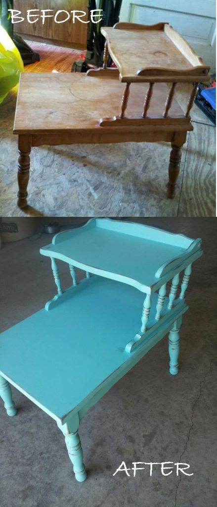 Before and After    I actually have this piece~sadly it looks like the top photo:(  I see a future project
