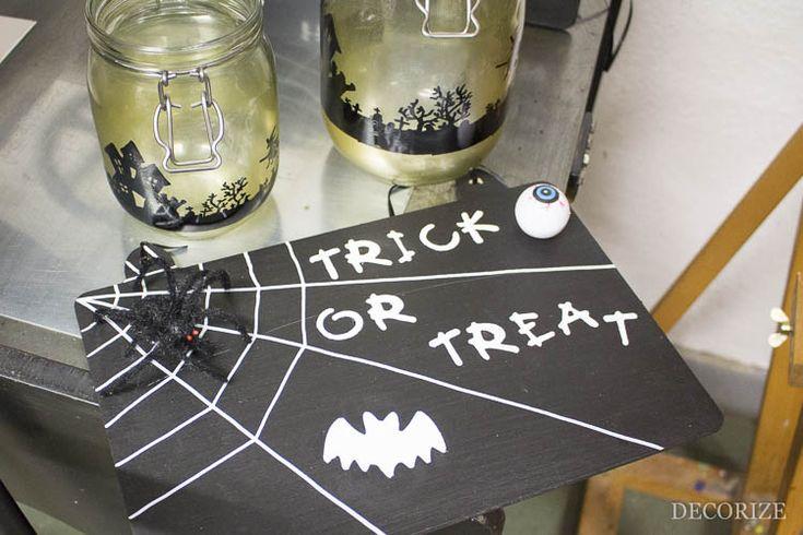 Schild / Dekoration für Halloween selbermachen